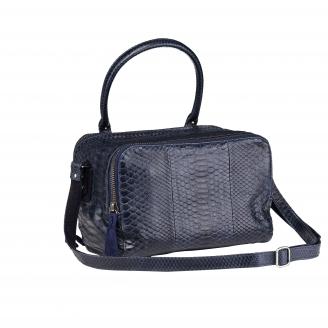 Lalya Navy Python Shoulder Bag
