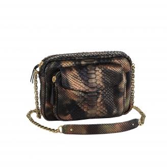 Python Bag Big Charly Metallic Camo Chain