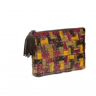 Andy Python Clutch Patchwork Clutch