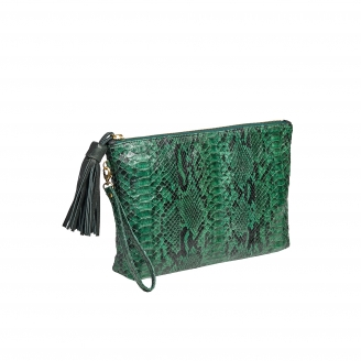 Dark Green Python Andy Clutch