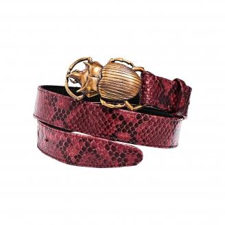 Burgundy Python Belt Beatle