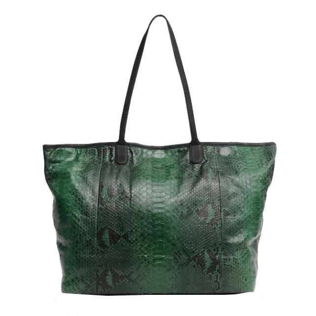 Cabas Python Marny Dark Green