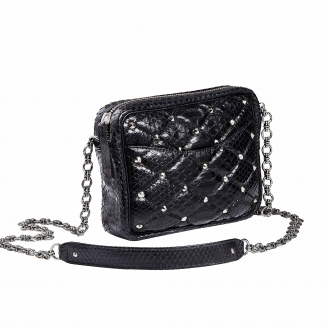 Bag Python Kate Black Silver Studs