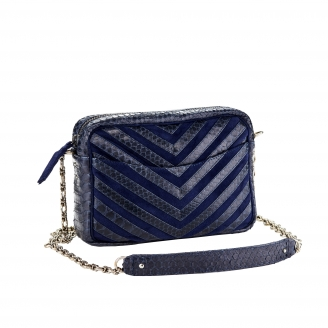 "Bag Python Kate ""V design"" Navy"