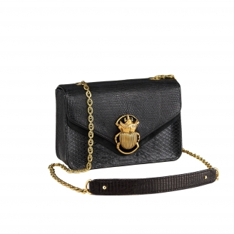Python Trimat Black Romy Beatle Bag