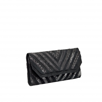 "Python Clutch Louise ""V design"" Platinum"