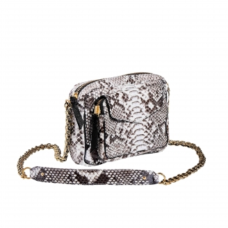 Diamond Python Bag Charly Golden Chain