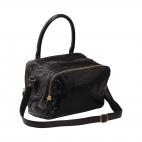 Black Python Bag Lalya Golden hardware