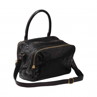 Black Python Bag Lalya Golden hardware