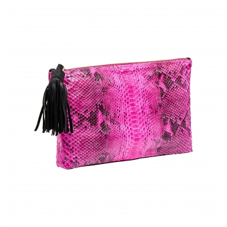 Clutch Andy Python Flash Pink