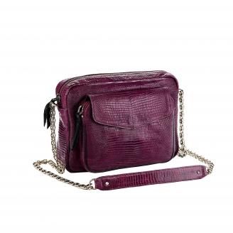 Bag Lizard Big Charly Purple Chain