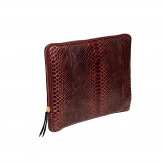 Burgundy Python Laptop Case