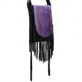India Purple Fringes Bag