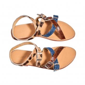 Sandales Python  Fanny Tricolore