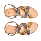 Sandales Python Fanny New Tricolore