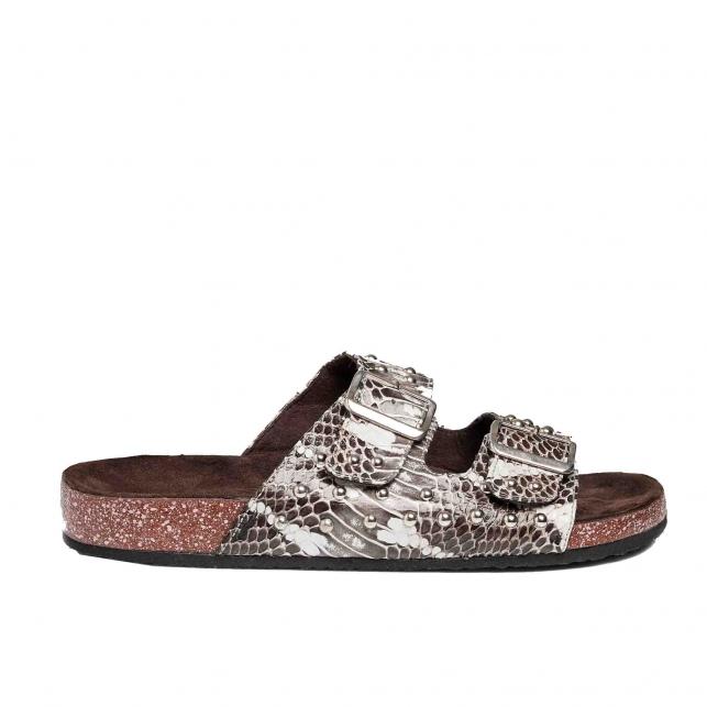 Sandals Python Odette Watersnkake silver studs