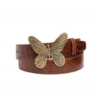 Moka Python Belt Butterfly