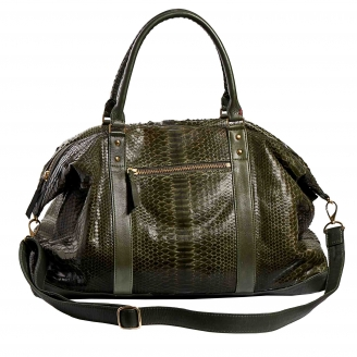 Kaki Python Travel Bag Roger M