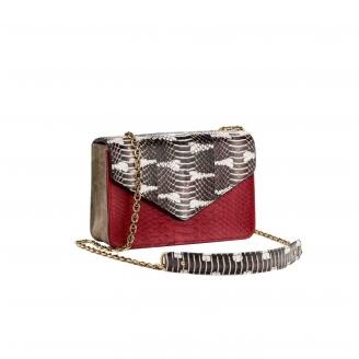 Python Red Watersnake Romy Bag
