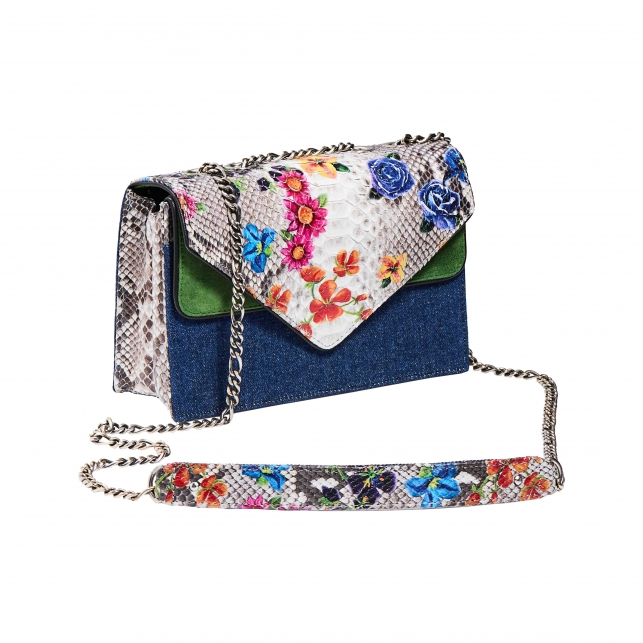 Python Envelope Bag Flowers Printed Victoria