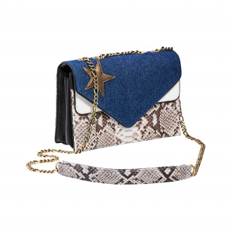 Python Envelope Bag Denim Star Victoria