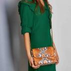 Python Bag Charlotte Orange Painted