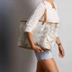 Diamond Gold Foil Tote Bag Python Big Marny
