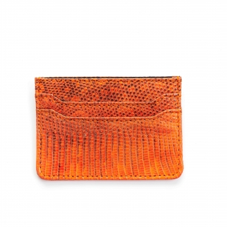 Orange Lizard Card Holder Lolo