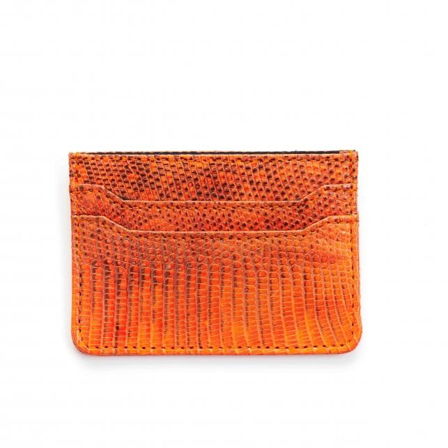 Orange Lizard Card Holder Lolo
