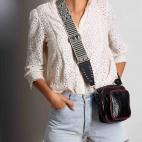 Python Black Color Zip Mini Charly Bag