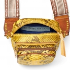 Python Yellow Color Zip Mini Charly Bag