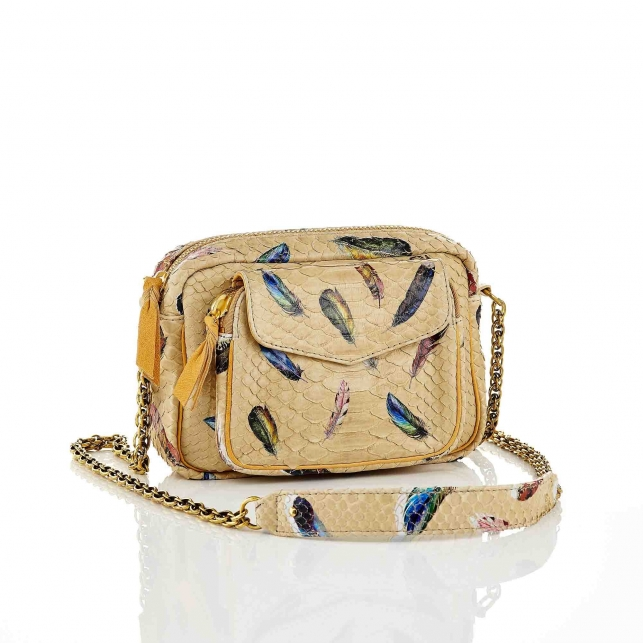 Python Feather Charly Bag