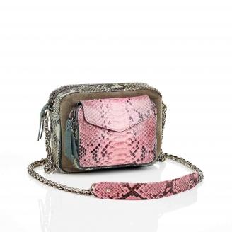 Pink Celadon Charly Python Bag