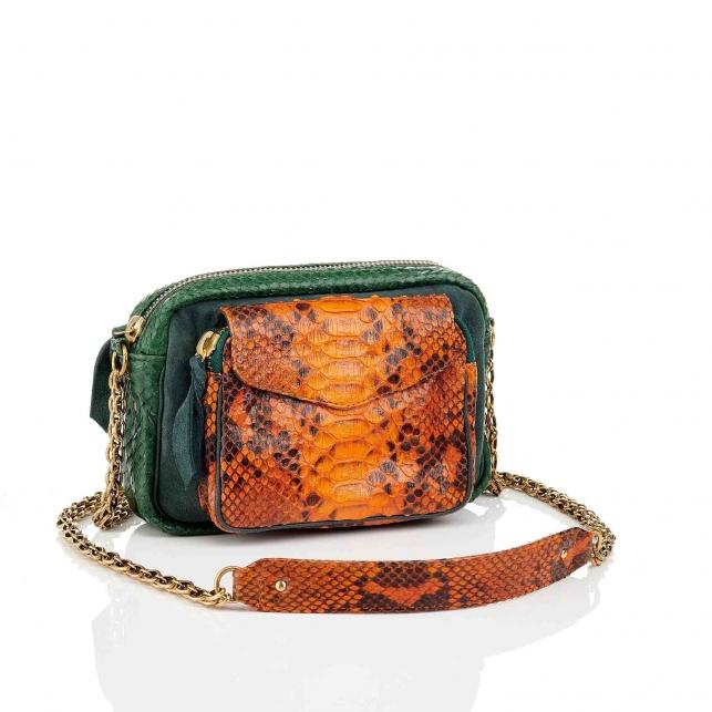Sac Python Charly Tricolore Matcha Orange