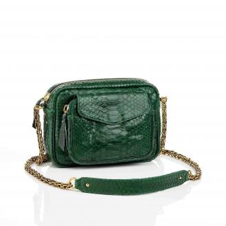 Matcha Charly Python Bag