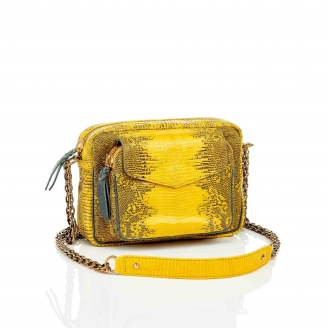 Yellow Lizard Charly Python Bag