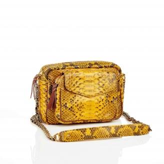 Yellow Charly Python Bag
