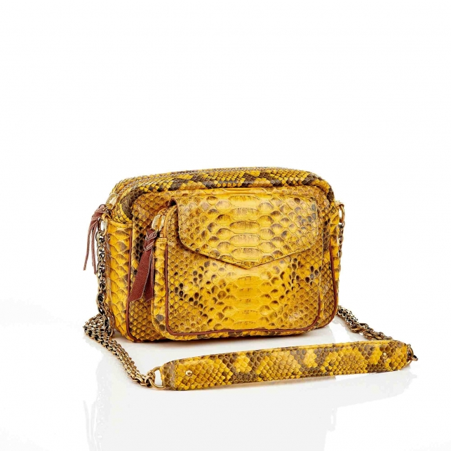 Yellow Charly Python Bag