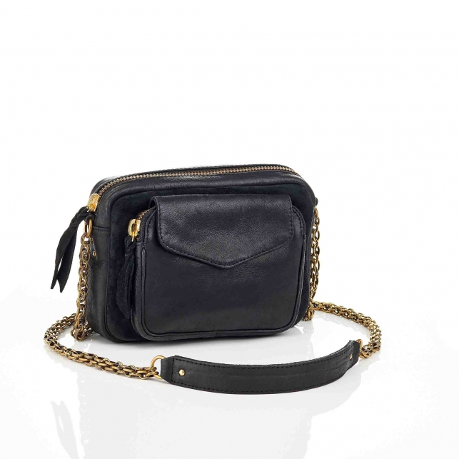 Black Leather Charly Bag