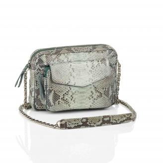 Bag Python Big Charly Celadon With Chain