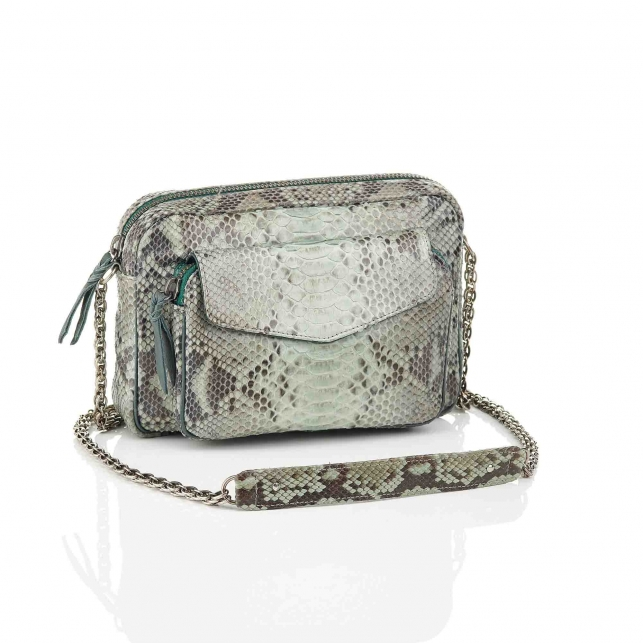 Bag Python Big Charly Celadon With Chain