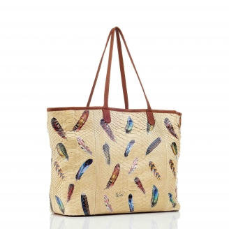 Feathers Python Tote Marny