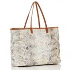 Diamond Gold Foil Tote Bag Python Big Marny