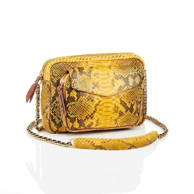 Bag Python Big Charly Yellow With Chain
