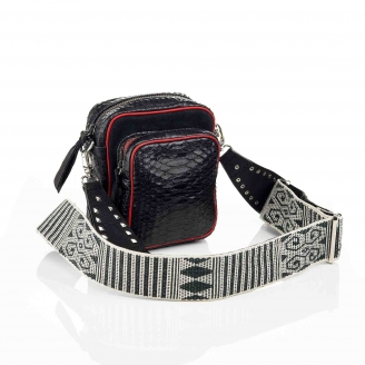 Python Black Color Zip Mini Charly Bag