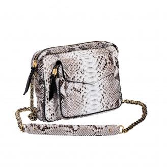 Python Bag Big Charly Diamond Gold Chain