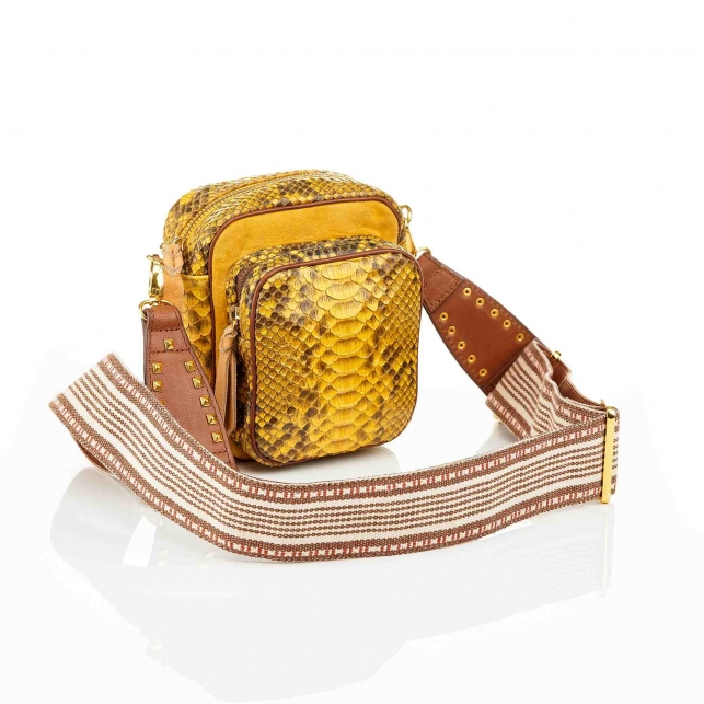 Sac Python Mini Charly Jaune Color Zip