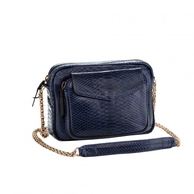 Python Bag Big Charly Navy Golden Chain