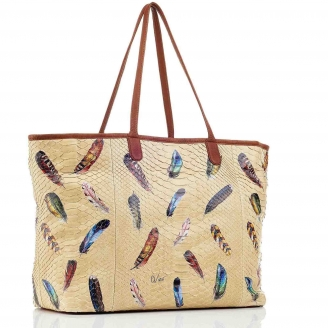 Feathers Python Tote Big Marny