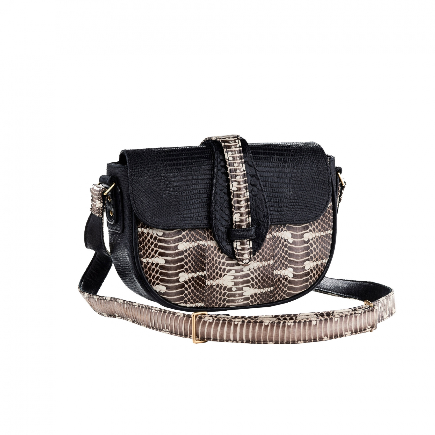 Hobo bag andrea black lizard and watersnake jpg 2000x2000 Black hobo lizard b6af58119d